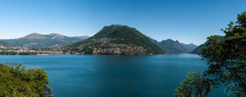 Panoramablick auf den Monte Bre am Luganer See
